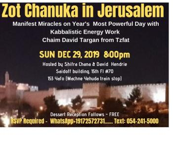 DON't MISS - Kabbalistic Energy Event on ZOT CHANUKA - Most Powerful Day of Year