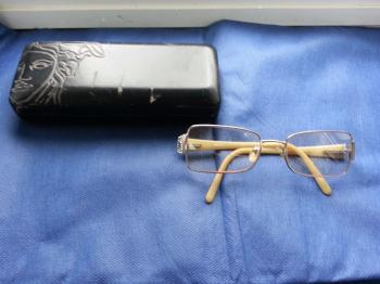 VERSACE Women's Eyeglasses Prescription GLASSES Frames + Case