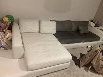Stylish couch Natuzzi brand