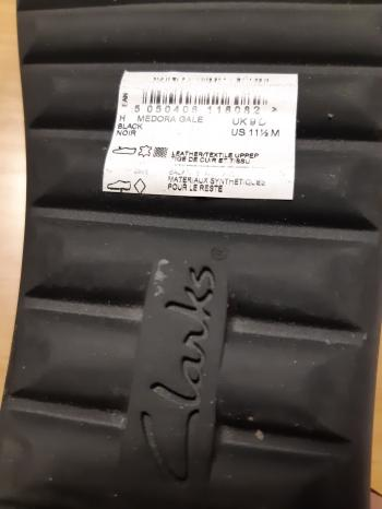 Clarks Ladies black shoes, size 9 UK (11.5 U.S)