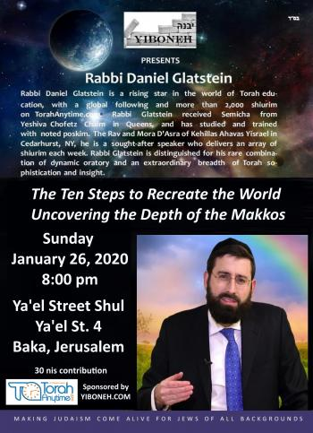 Rabbi Daniel Glatstein: The Ten Steps to Recreate the World - Uncovering the Depth of the Makkos.