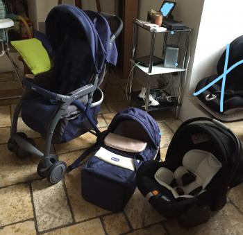 Cozy, stroller and carrycot