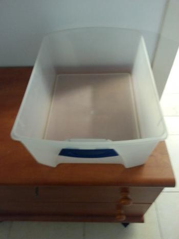 FOR SALE:Large plastic bins(without lids) excellent for storage