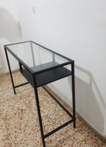 glass side table or desk, elegant