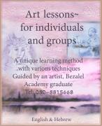 Art Lessons for Individuals and groups