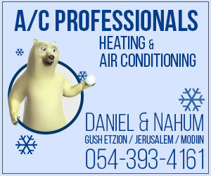 AC technician in Tel Aviv and Jerusalem Surroundings