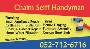 Chaim Seiff Handyman 052-712-6716