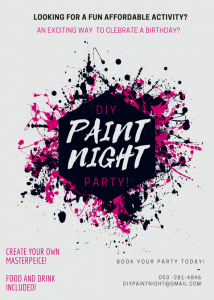 DIY PAINT NIGHT PARTY!