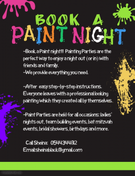 PAINT PARTY!!! BOOK A PAINT NIGHT!