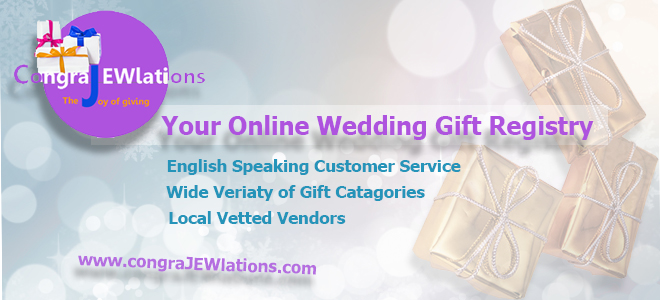 Israels premier wedding gift registry congrajewlations we make it easy to build a comprehensive gift registry saving your overseas guests time money and schlepping junglespirit Choice Image